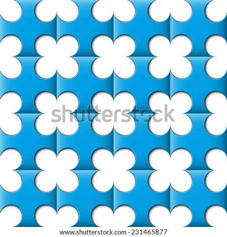 abstract clover wallpaper, seamless pattern - stock vector