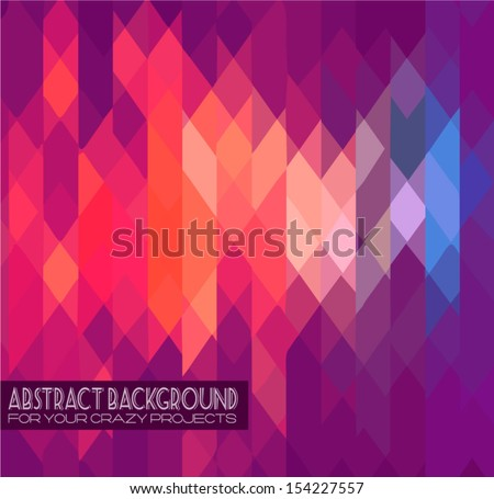 Abstract club flyer template. Abstract background to use for music event posters or album covers. - stock vector