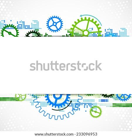 Abstract cogwheel technological background. - stock vector