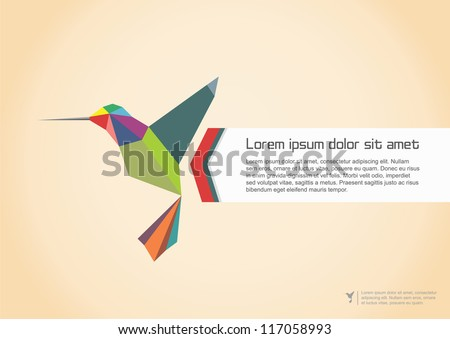 Abstract Colibri Illustration. Vector illustration - stock vector