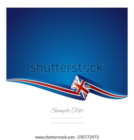 Abstract color background British flag vector - stock vector
