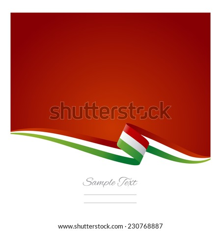 Abstract color background Italian flag - stock vector