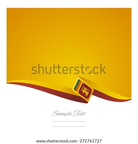 Abstract color background Sri Lanka flag vector - stock vector
