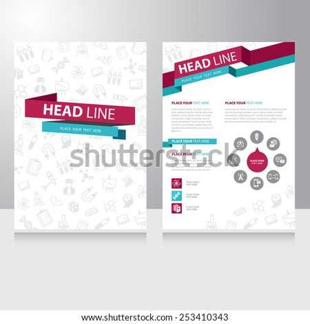 Abstract color Education study Brochure Flyer design vector template - stock vector