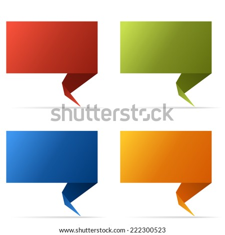 Abstract color flag banner isolated on white background.  - stock vector