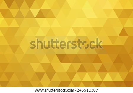 Abstract color mosaic background. Gold vector background - stock vector