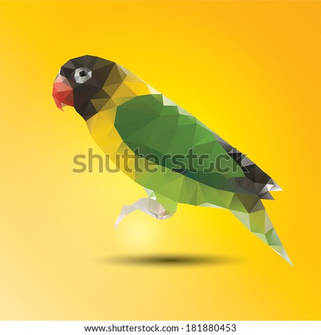 Abstract color parrot of background - stock vector
