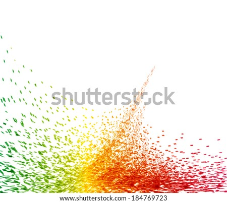 Abstract color splash background, vector illustration - stock vector