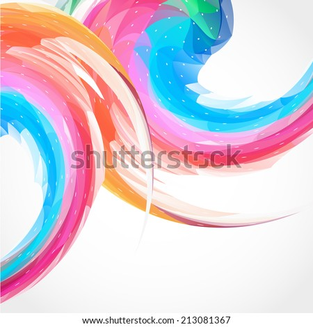 Abstract color swirl background - stock vector