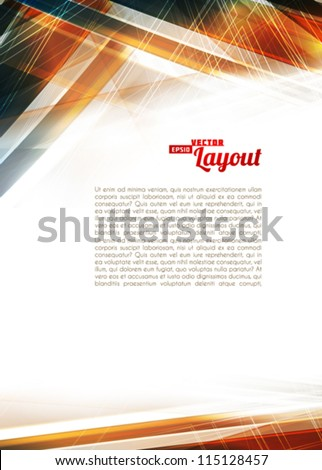 Abstract color techno background. Vector - stock vector