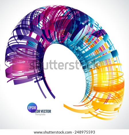 Abstract color technology Background for Business Brochure or Cover. EPS10. - stock vector