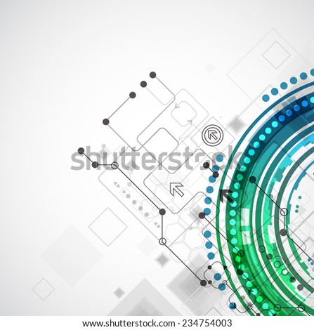 Abstract color technology computer business background - stock vector