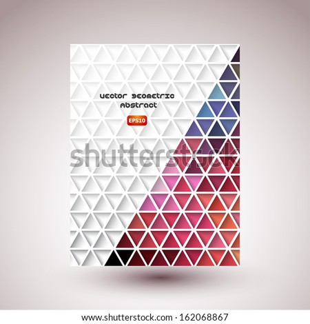 Abstract  color triangle background. Vector illustration, contains transparencies, gradients and effects. - stock vector