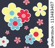 Abstract color vintage floral seamless texture pattern - stock vector