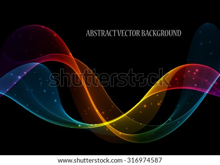 Abstract color wave design element, concept decoration - stock vector