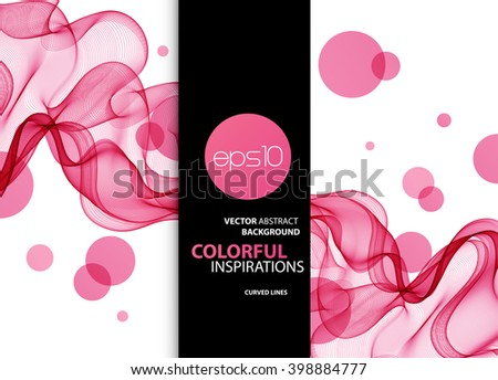 Abstract color wave design element. Pink wave background - stock vector