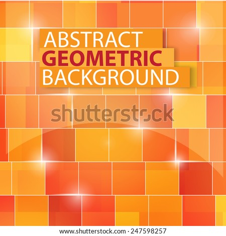 abstract colored and glossy square 3d cubes background - stock vector