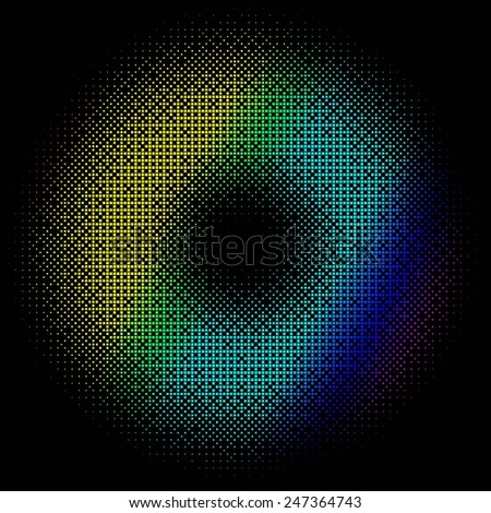 abstract colored background on black. 10 eps - stock vector