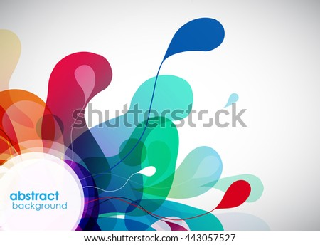 Abstract colored background with flower petals. - stock vector