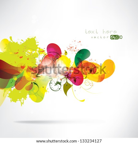 Abstract colored background with geometric elements - stock vector
