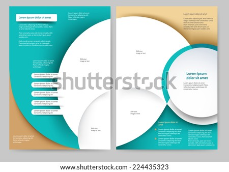Abstract colored brochure template for your business - stock vector