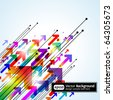 Abstract colored gradient background with arrows. Modern business template. - stock vector