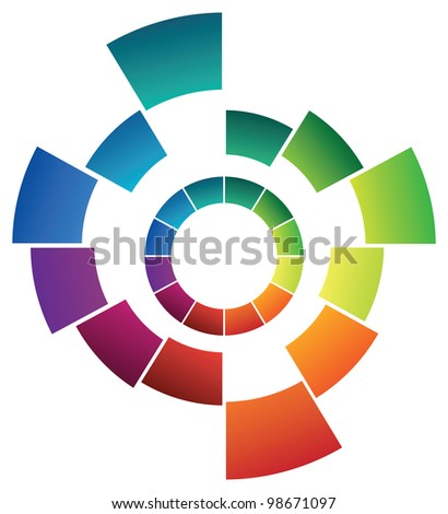 abstract colored ring - stock vector