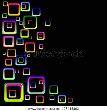 Abstract Colored Squares Background - stock vector