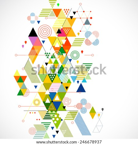 Abstract colorful and creative geometric template, vector illustration - stock vector