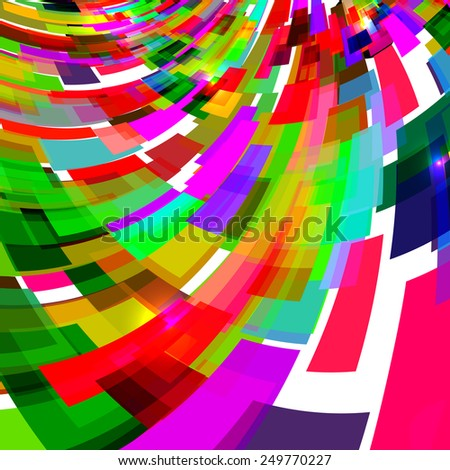 Abstract colorful and curvy rectangles background design with futuristic concept abstract shapes. - stock vector