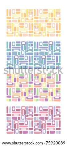 abstract colorful background,color editable,4 sets - stock vector