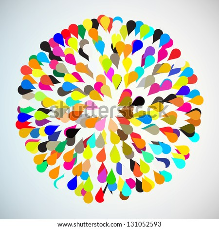 Abstract colorful background design. Eps 10 vector - stock vector