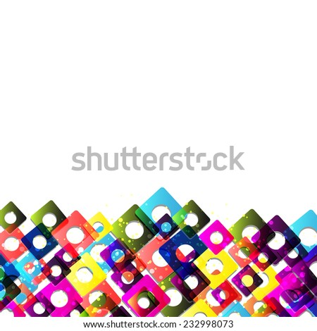 abstract colorful background for your text - stock vector