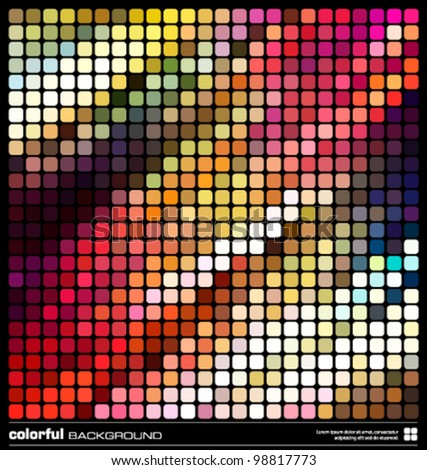abstract colorful background. modern mosaic design vector illustration (eps10) - stock vector