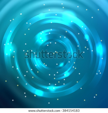 Abstract colorful background, Shining circle tunnel. Elegant modern geometric wallpaper.   Vector  illustration. Blue color.  - stock vector