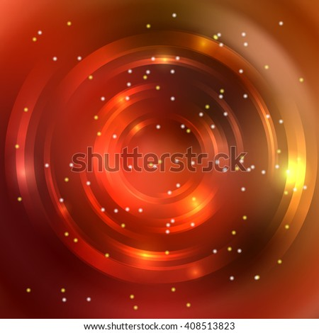 Abstract colorful background, Shining circle tunnel. Elegant modern geometric wallpaper.   Vector  illustration. Orange, red, brown colors.  - stock vector
