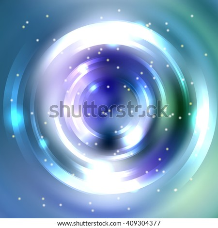 Abstract colorful background, Shining circle tunnel. Elegant modern geometric wallpaper.   Vector  illustration. Blue, purple, violet, white colors.  - stock vector