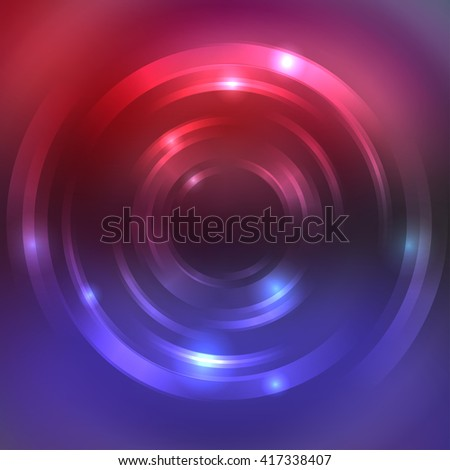 Abstract colorful background, Shining circle tunnel. Elegant modern geometric wallpaper.   Vector  illustration. Red, blue, purple  colors.  - stock vector