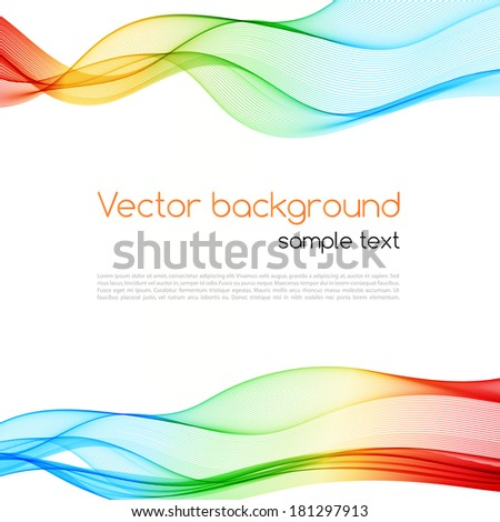 Abstract colorful background. Spectrum wave. Vector illustration - stock vector