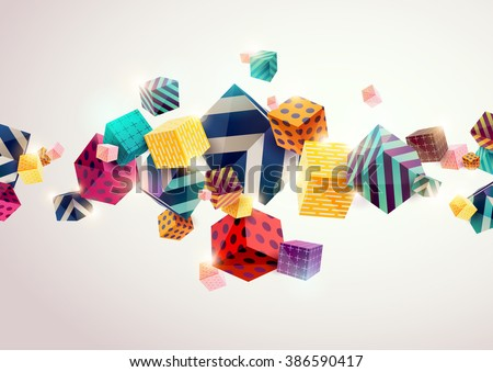 Abstract colorful background with geometric elements - stock vector