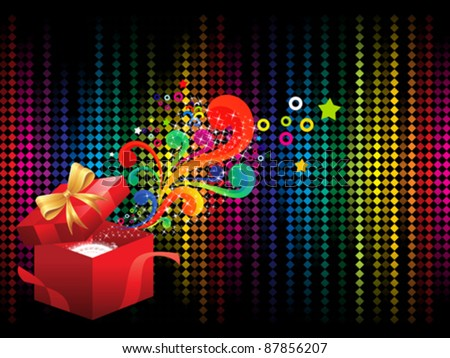 abstract colorful background with magic box vector illustration - stock vector
