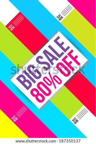 Abstract colorful Big Sale design template.  - stock vector