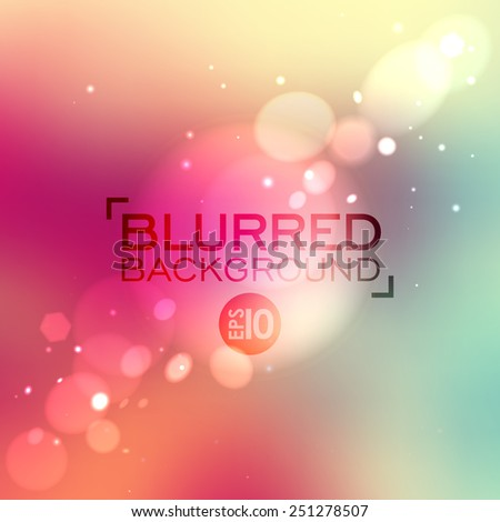 Abstract colorful blurred vector background. Background can be used for website, banners or presentation. Minimalistic vector template. Clean design. - stock vector
