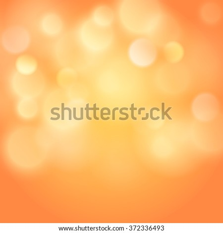 Abstract colorful bokeh light backgrounds blur bokeh blurred blurred office gold peach orange background. Vector illustration - stock vector
