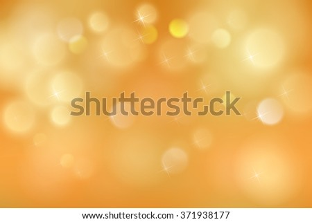 Abstract colorful bokeh light backgrounds blur bokeh blurred blurry office gold orange background. Vector illustration - stock vector