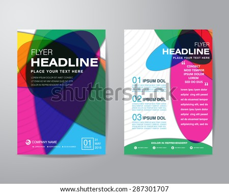 Abstract colorful brochure flyer design layout template in A4 size, vector eps10. - stock vector