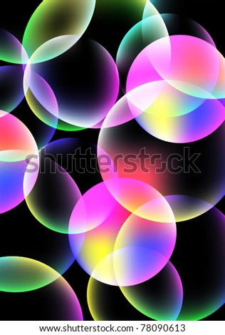 Abstract colorful buble background. Vector. - stock vector