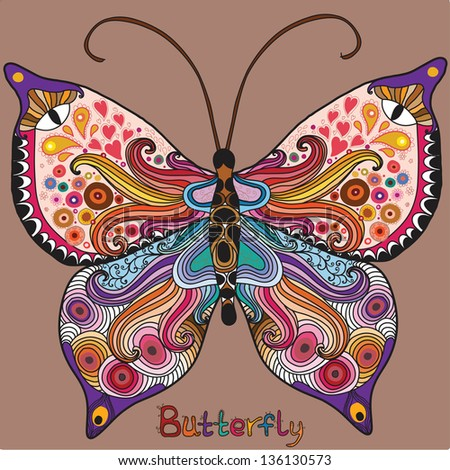 Abstract colorful butterfly - stock vector
