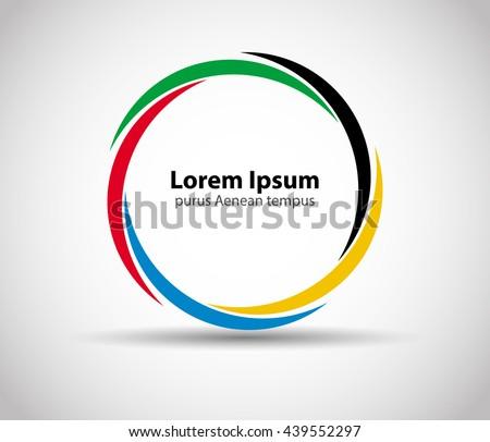 Abstract colorful circle  - stock vector