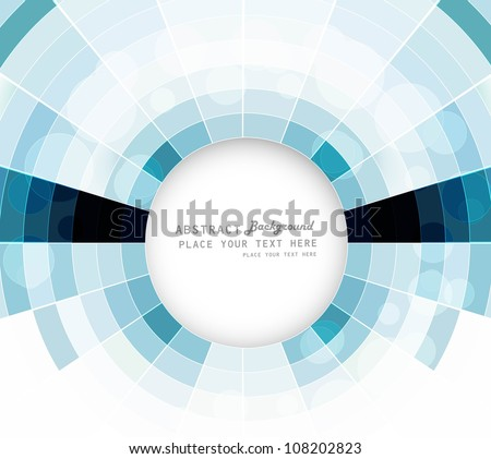 abstract colorful circle mosaic swirl composition vector - stock vector